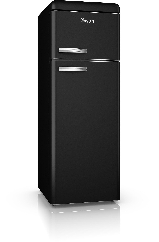 Swan SR11010BN Retro Tall Fridge Freezer - Black.