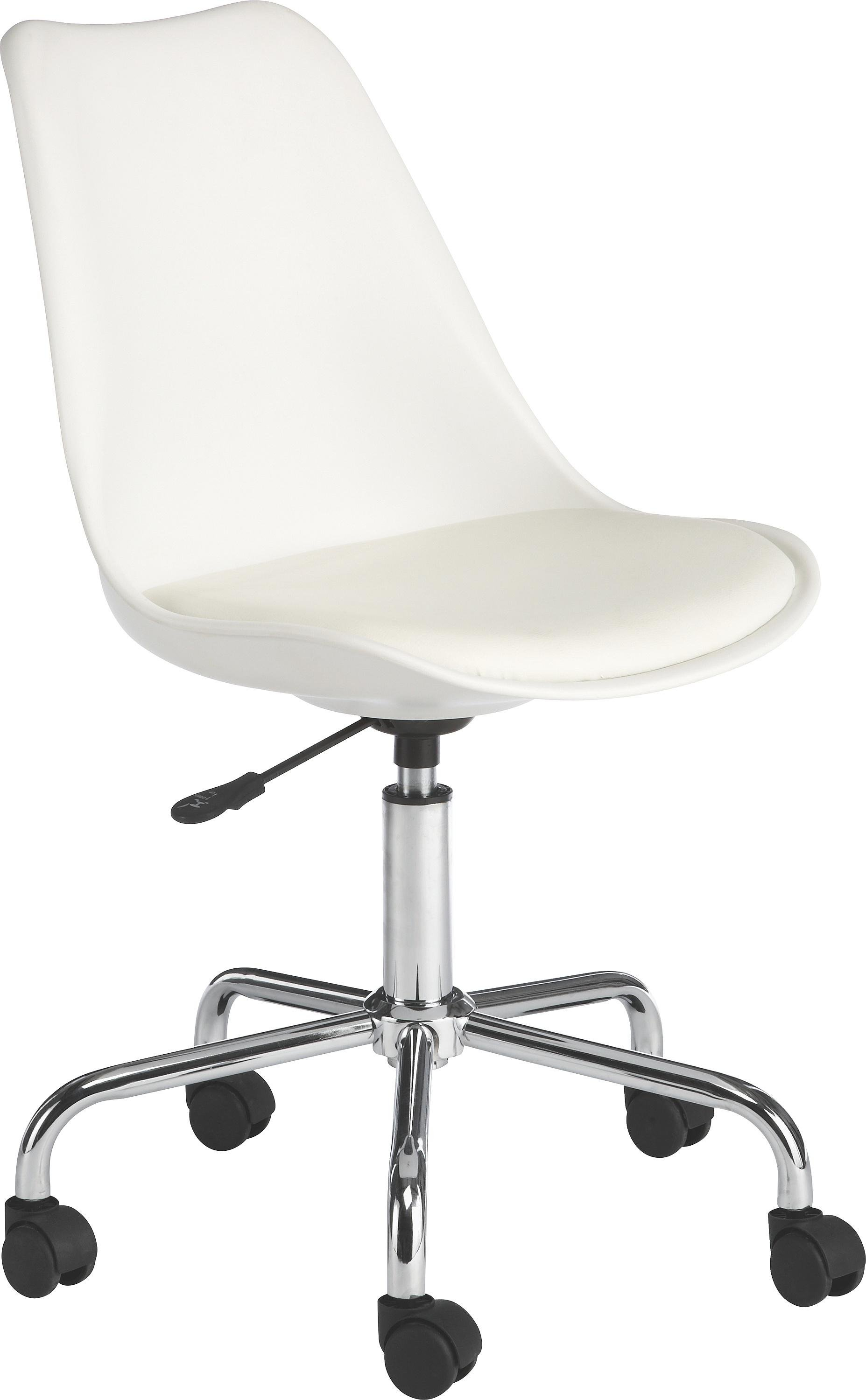 Desk Chairs White buy habitat ginnie office chair - white at argos.co.uk - your