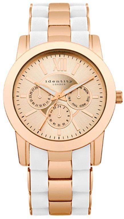 Identity London Rose and White Bracelet Strap Watch