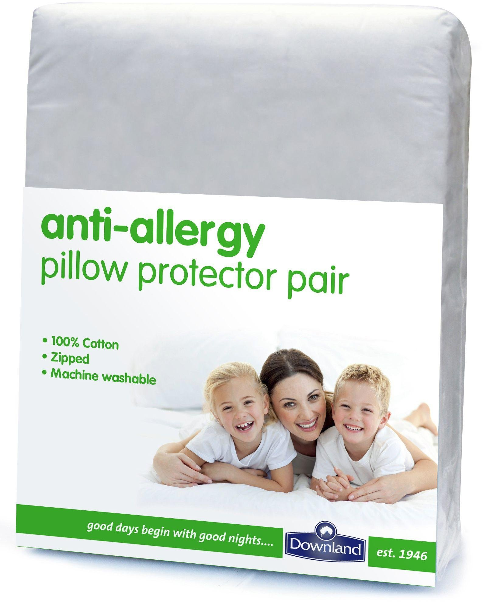 downland  anti allergy pillow protectors  set of 2