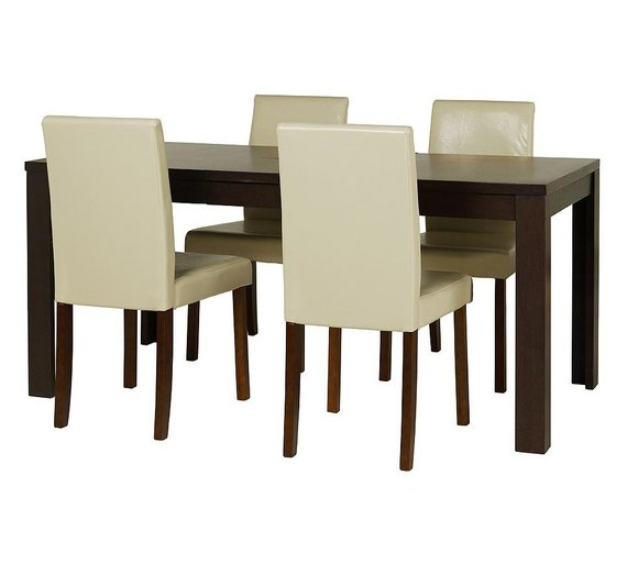 Buy HOME Penley Walnut Ext Dining Table 4 Chairs