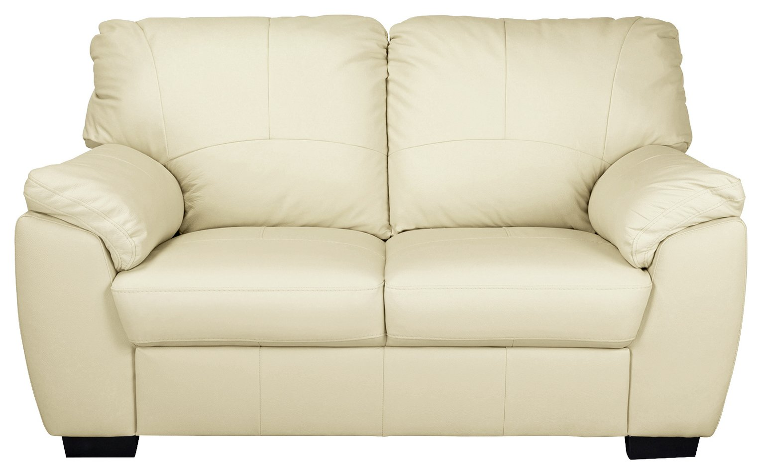 argos home milano 2 seater leather sofa ivory 3592584. Black Bedroom Furniture Sets. Home Design Ideas