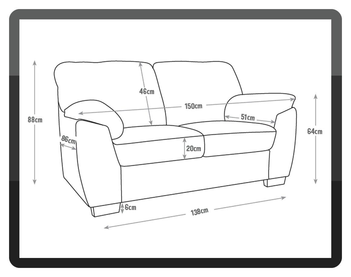 Argos Home Milano 2 Seater Leather Sofa Reviews