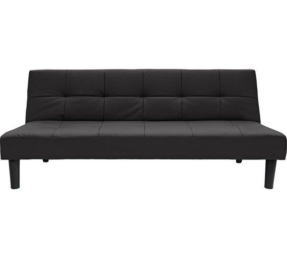 Buy Argos Home Patsy 2 Seater Clic Clac Sofa Bed Black Sofa