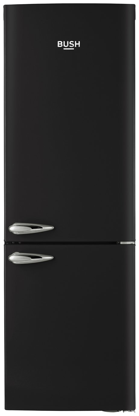 Bush Classic BFFF60 Frost Free Retro Fridge Freezer - Black Best Price, Cheapest Prices
