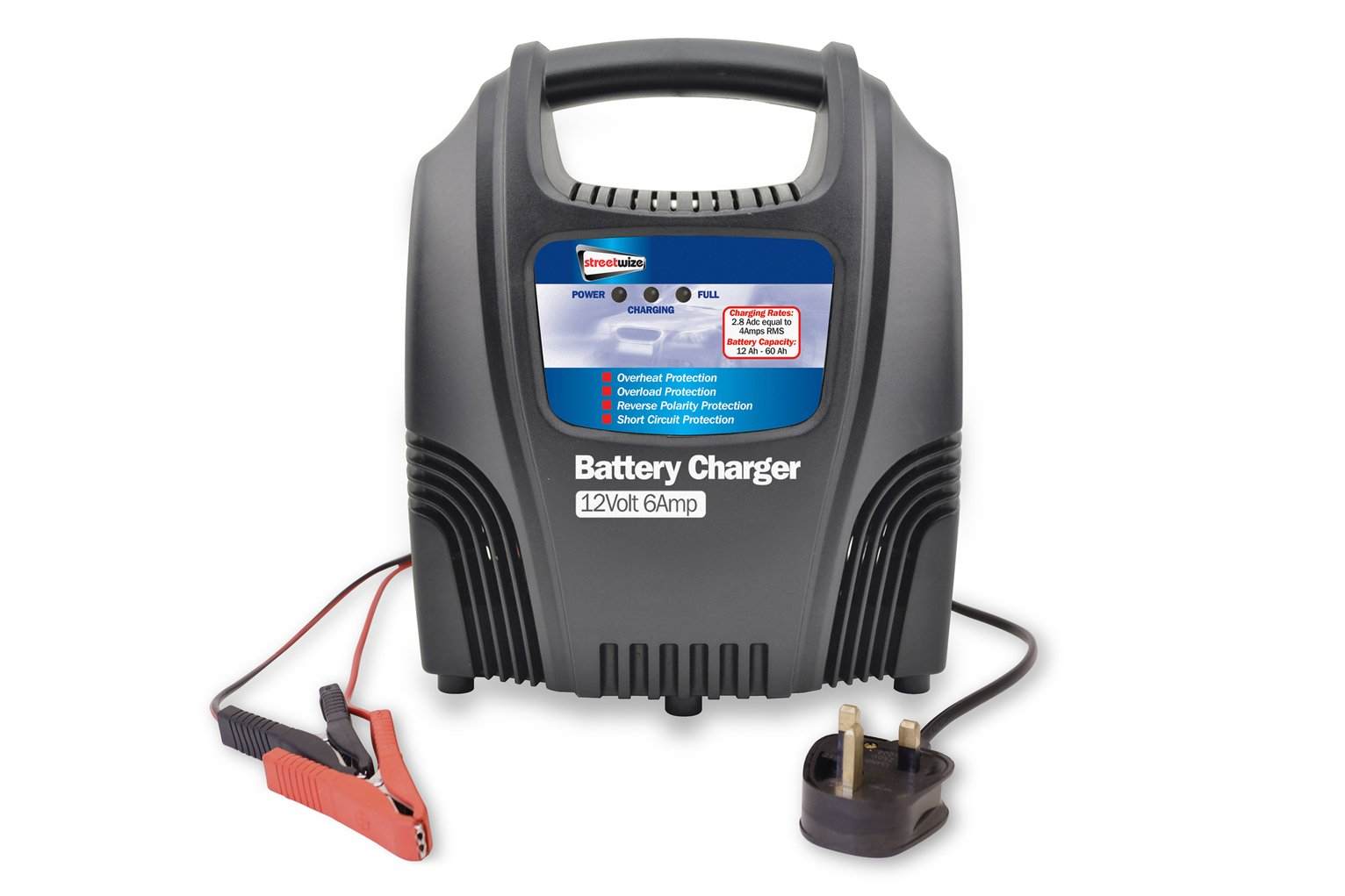Streetwize 6 Amp 12V Compact Battery Charger. lowest price