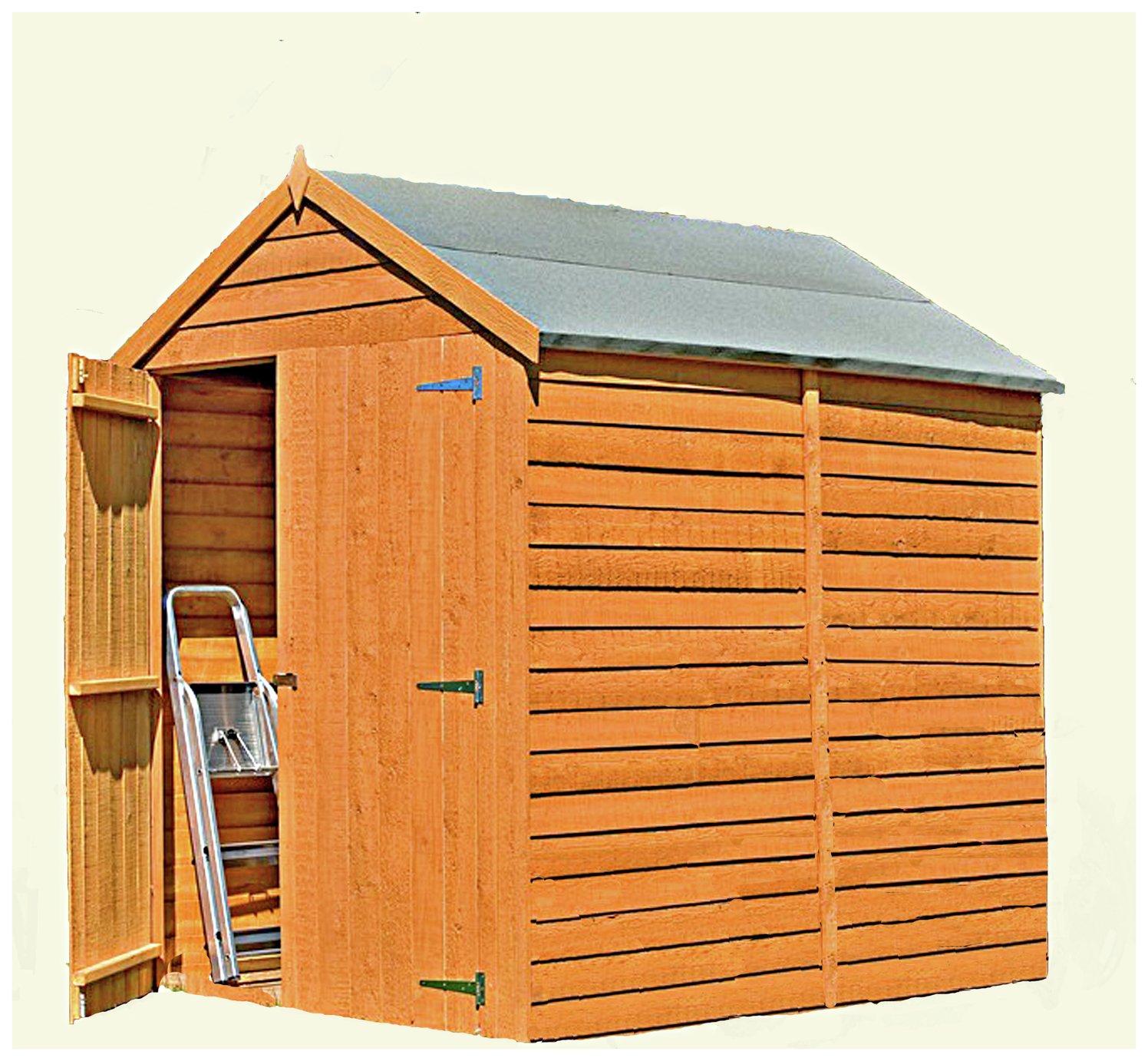 Homewood Wooden 6 x 6ft Overlap Garden Shed