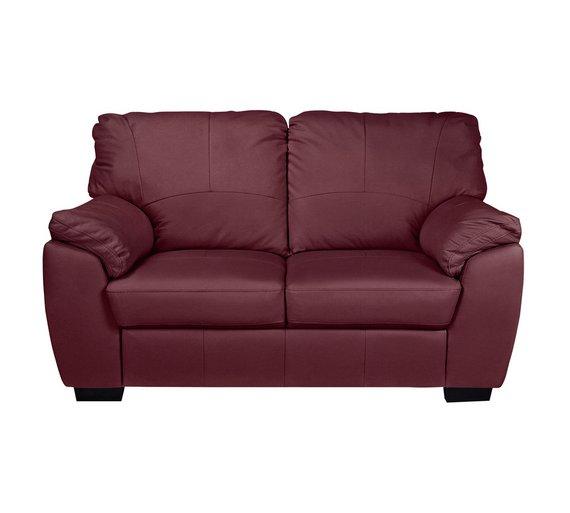 Famous Buy Collection Milano 2 Seater Leather Sofa - Burgundy | Sofas | Argos SZ23