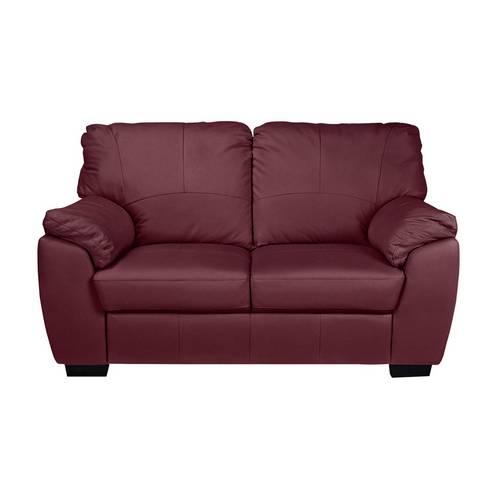 Buy Argos Home Milano 2 Seater Leather Sofa - Burgundy   Sofas   Argos