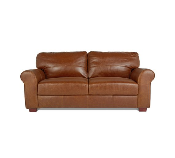 Heart of House Salisbury 3 Seater Leather Sofa - Tan359/6449 - Buy Heart Of House Salisbury 3 Seater Leather Sofa - Tan At Argos