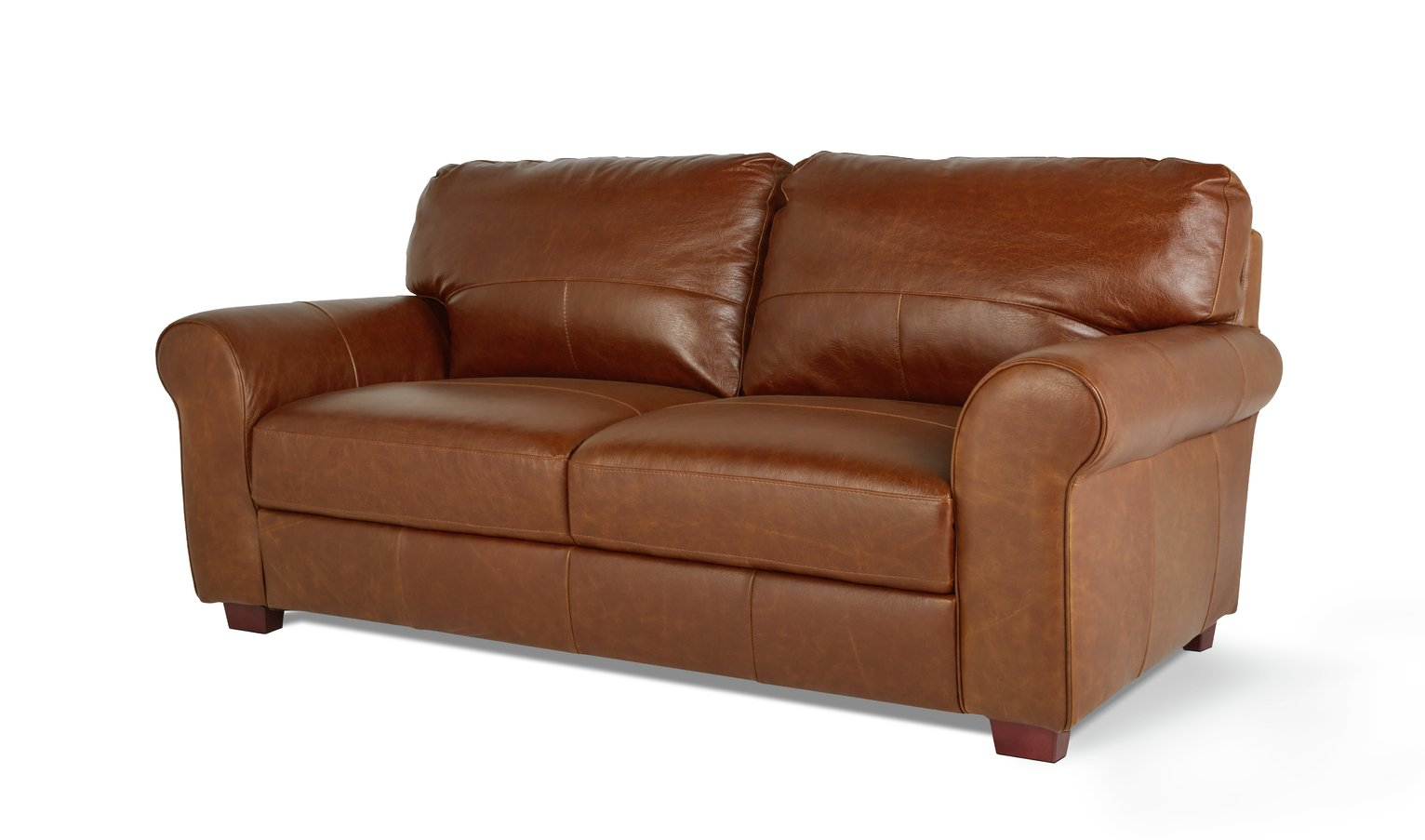 play video - Tan Leather Sofa