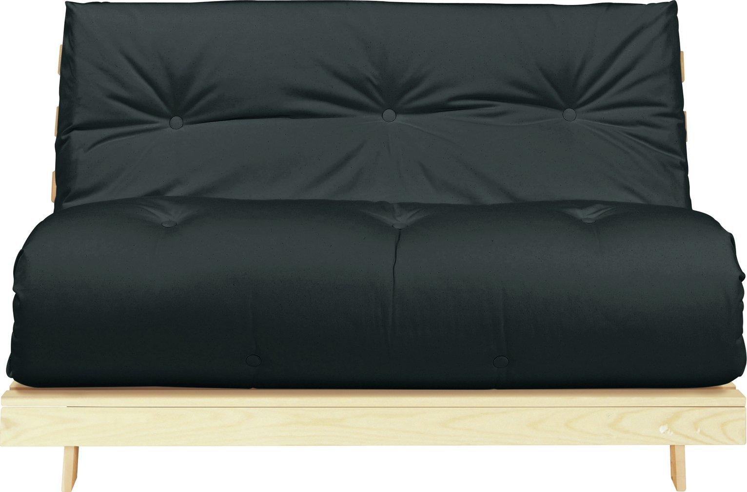 Argos Home Tosa 2 Seater Futon Sofa Bed - Black