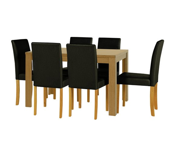 HOME Penley   Pentley Oak Ext Dining Table   6 Chairs Black359 8313. Buy HOME Penley   Pentley Oak Ext Dining Table   6 Chairs Black at