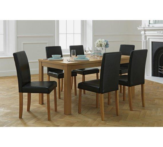 Buy HOME Penley Oak Veneer Ext Dining Table 6 Chairs