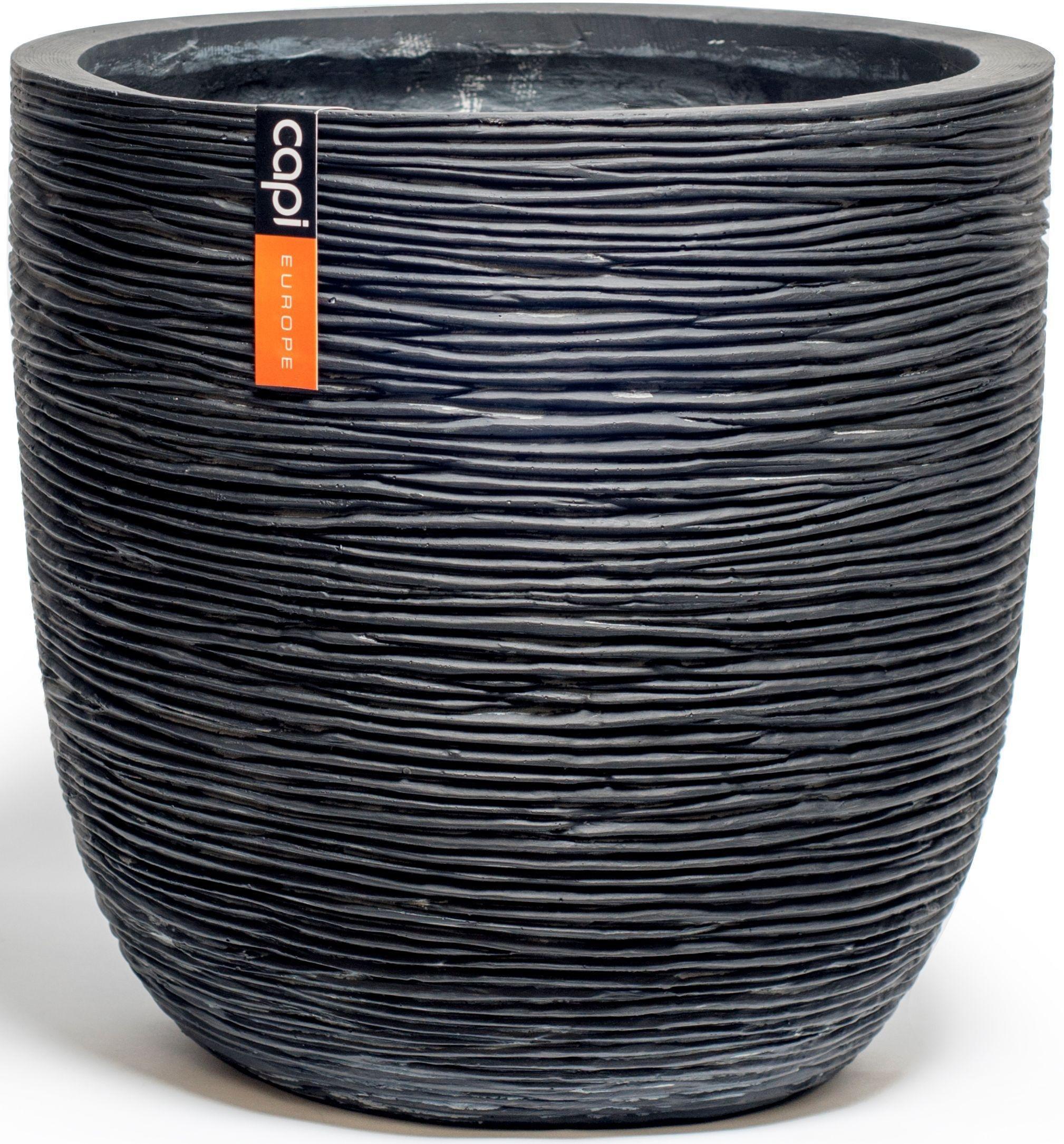 Capi Nature Black Ribbed Planter Egg - 34 x 34cm. lowest price