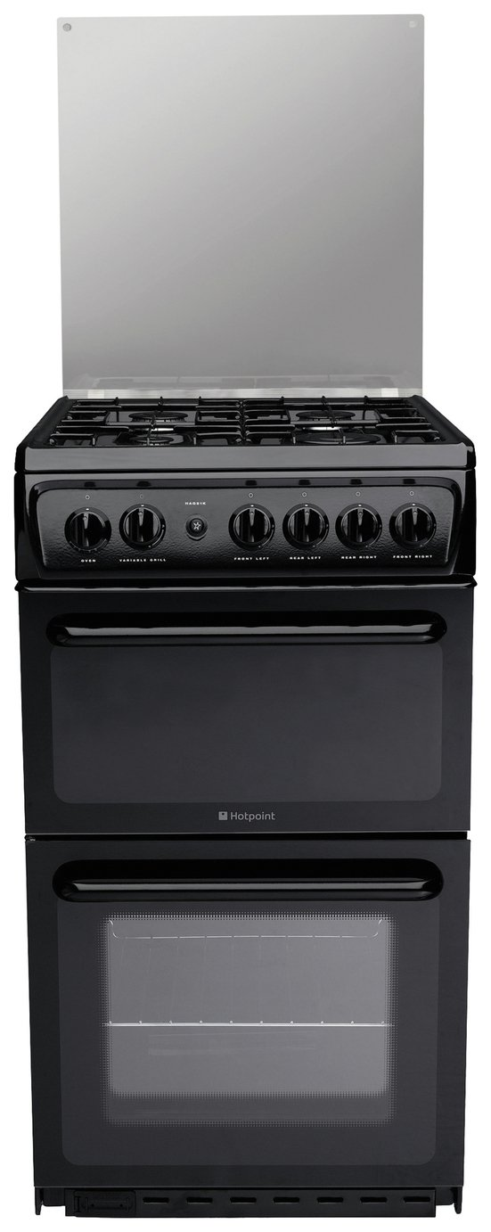 Hotpoint HAGL51K Twin Gas Cooker - Black