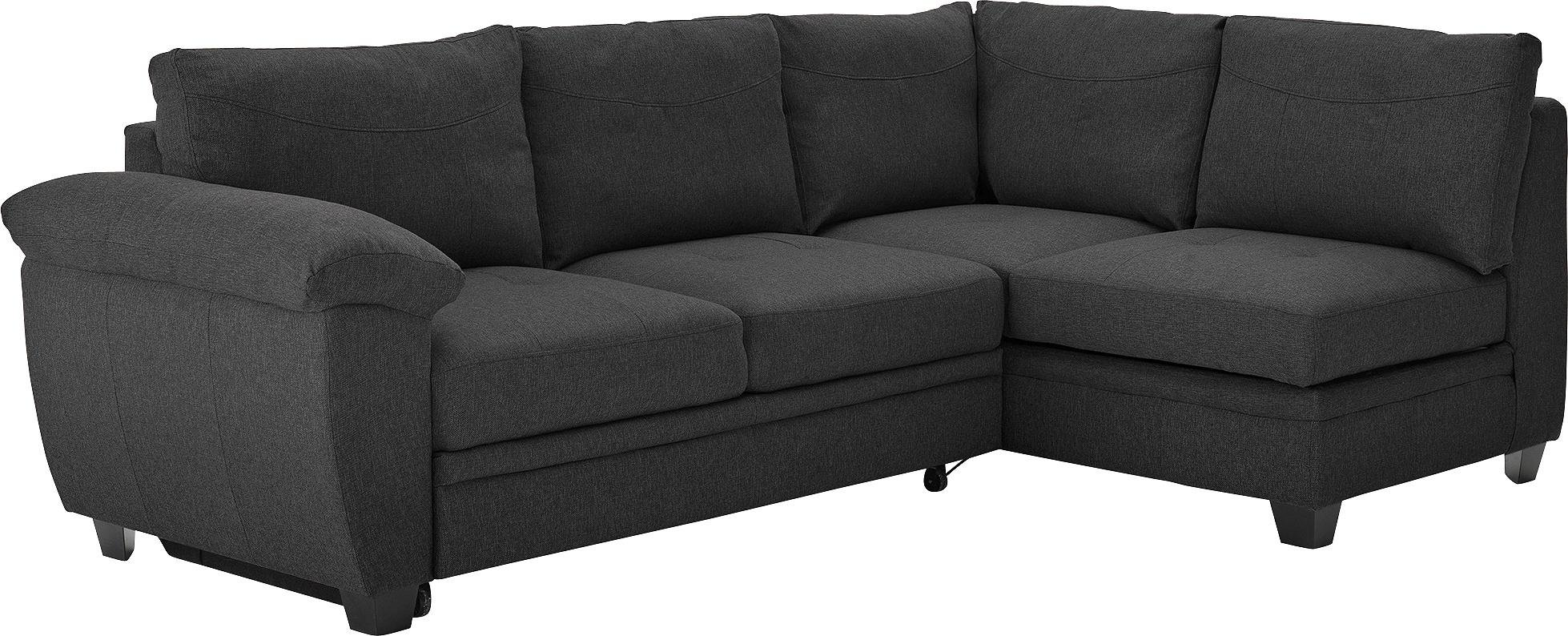 Argos Home Fernando Fabric Right Corner Sofa Bed - Charcoal