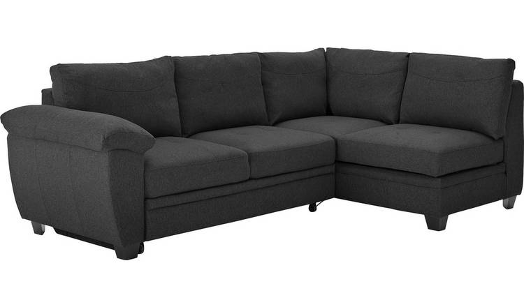 Argos Home Fernando Right Corner Fabric Sofa Bed - Charcoal