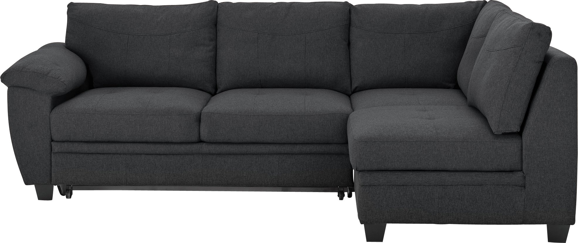 Buy Collection Fernando Fabric Right Corner Sofa Bed Charcoal at