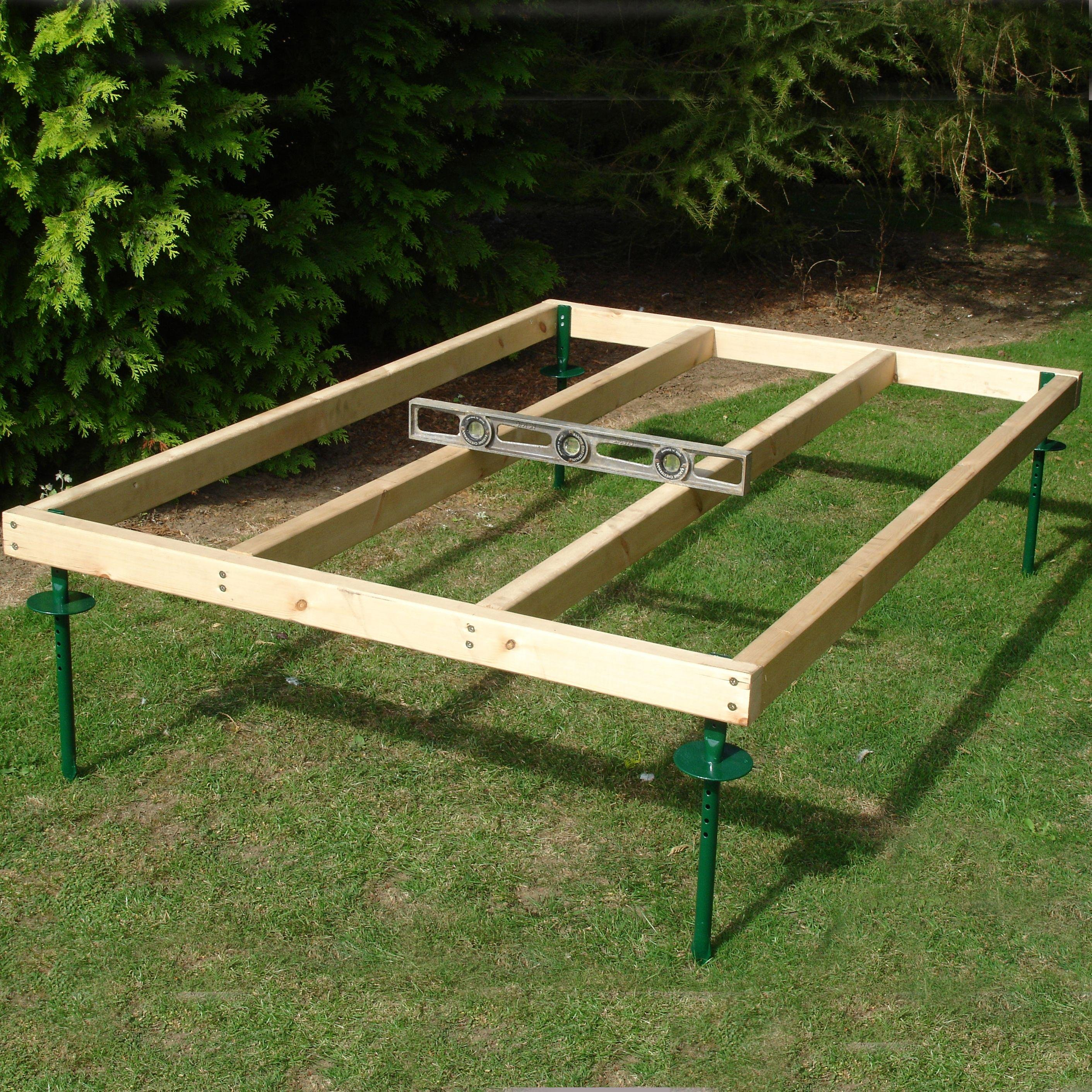 Homewood Adjustable Wooden Shed Base - 4 x 6ft