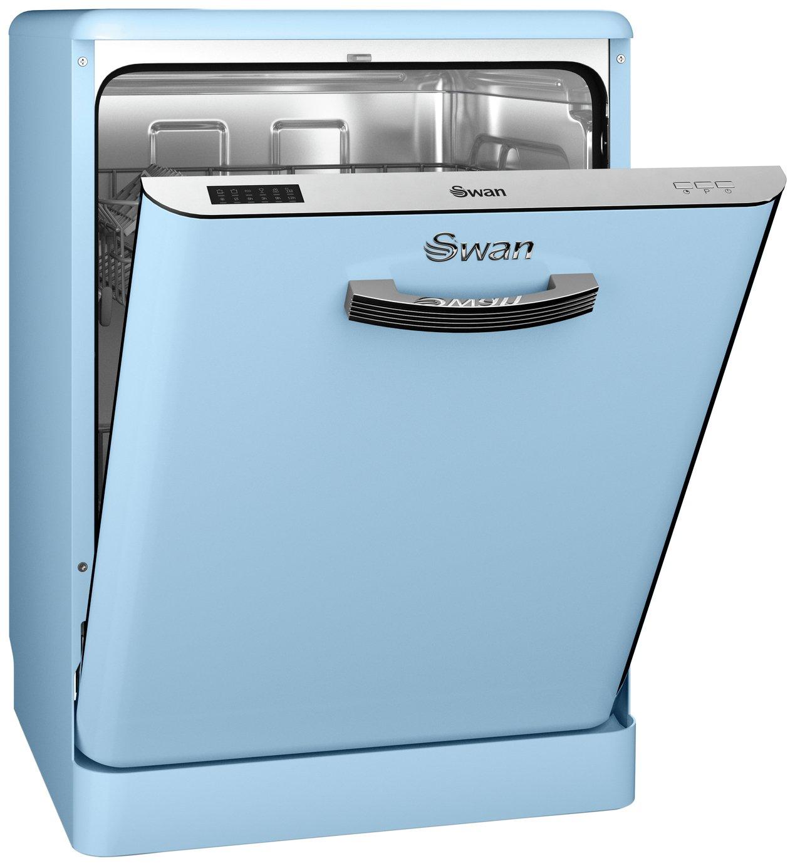 Swan - SDW7040BLN Retro Dishwasher - Blue