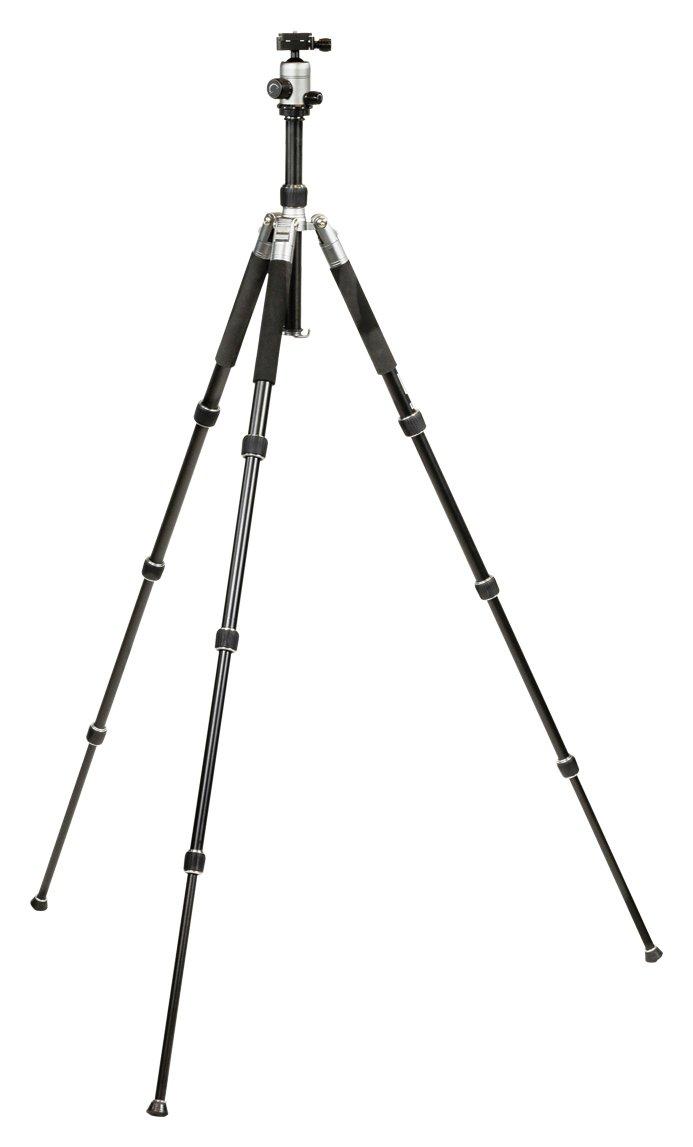 Image of Camlink Professional Aluminium 22mm Leg Tripod - Black.