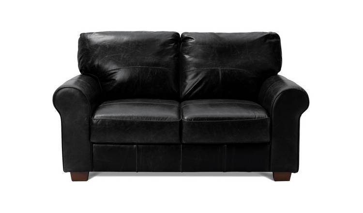 Buy Argos Home Salisbury 2 Seater Leather Sofa - Black | Sofas | Argos