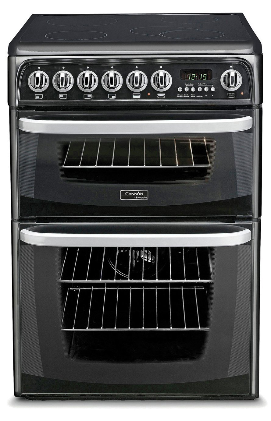 Hotpoint CH60EKKS Electric Cooker - Black