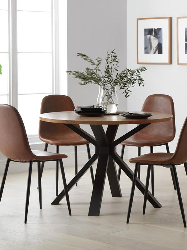 Argos Home Loft Living Wood Veneer 4 Seater Dining Table.