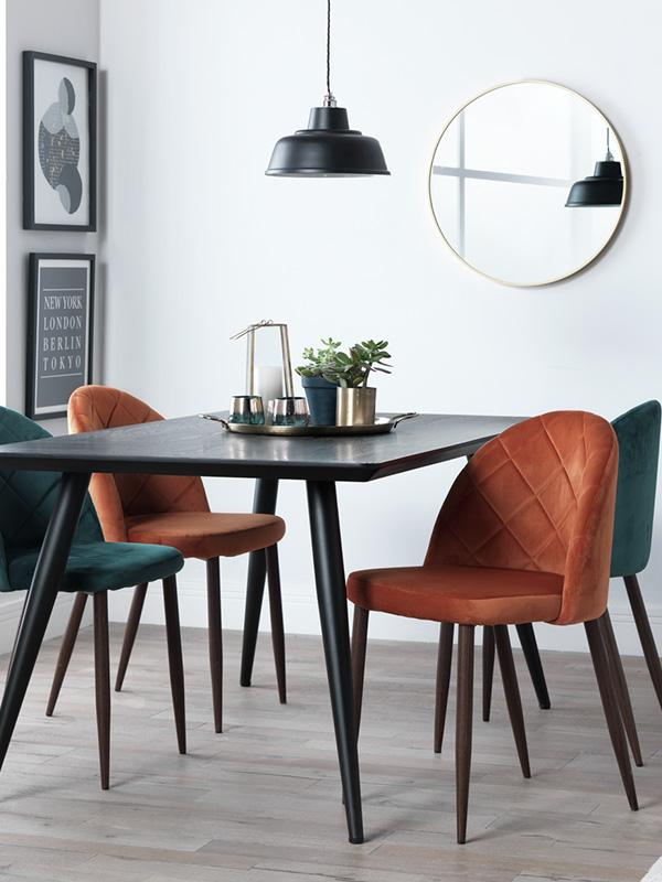 Dining table and chair set.