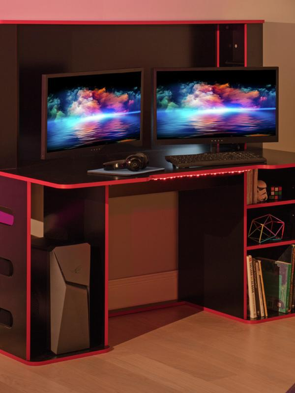 Argos Home Cornex Gaming Desk - Black.