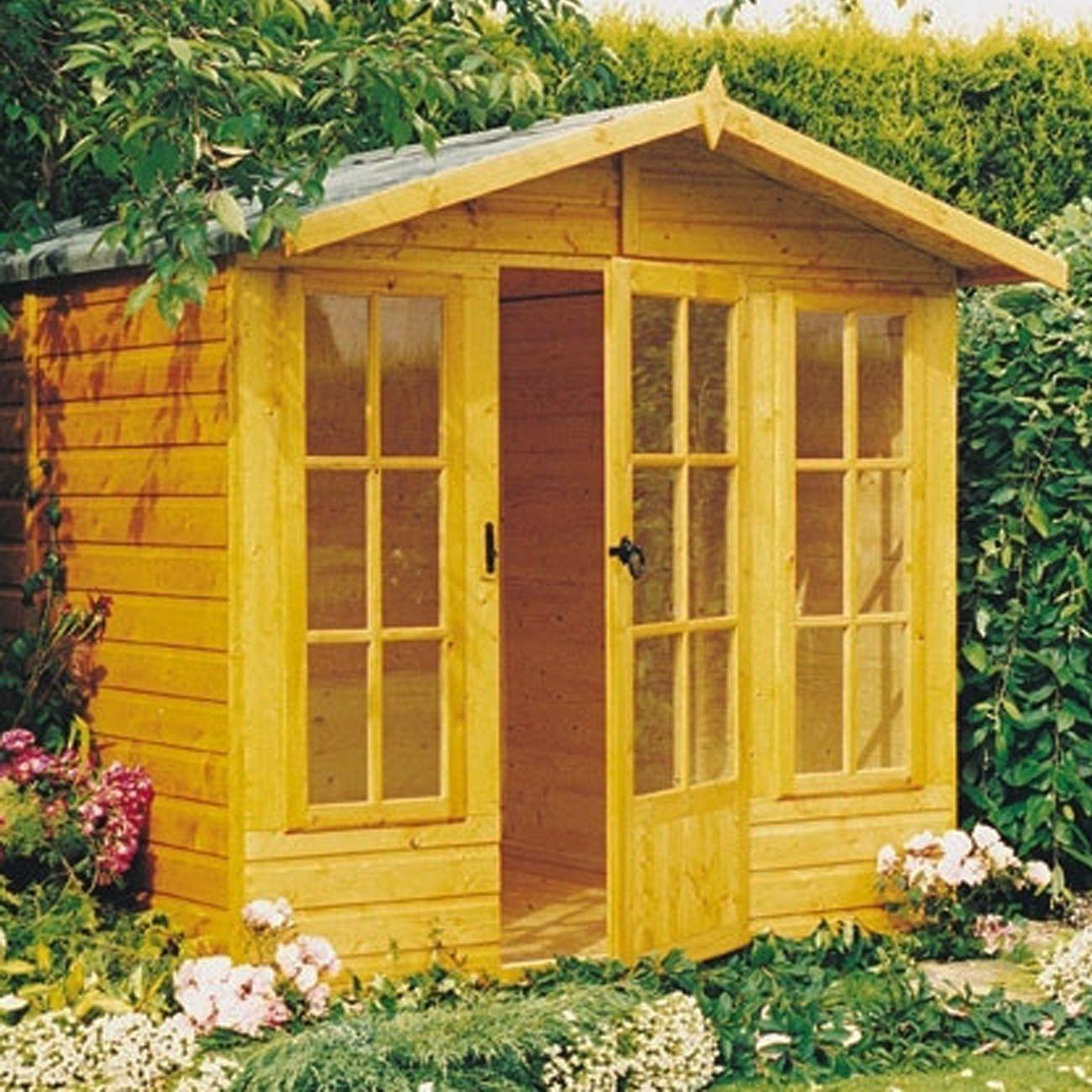 Sale On Homewood Chatsworth Wooden Summerhouse 10 X 7ft