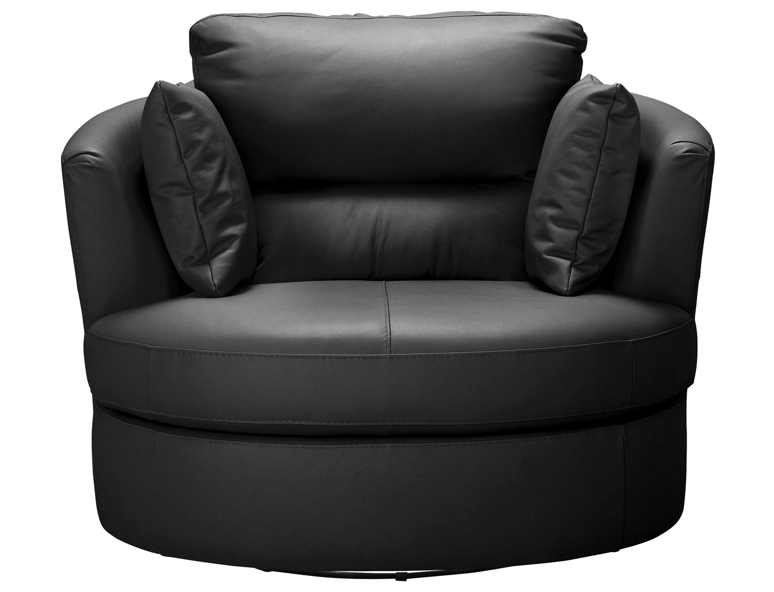 Argos Home Trieste Leather Swivel Chair - Black