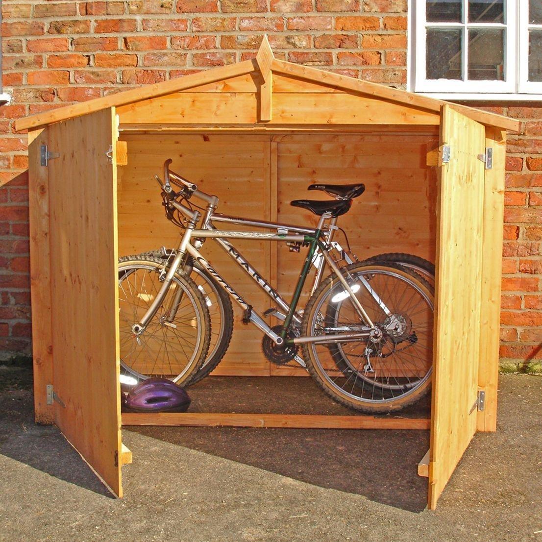 Image of Homewood 6 x 2ft Shiplap Apex Bike Store.
