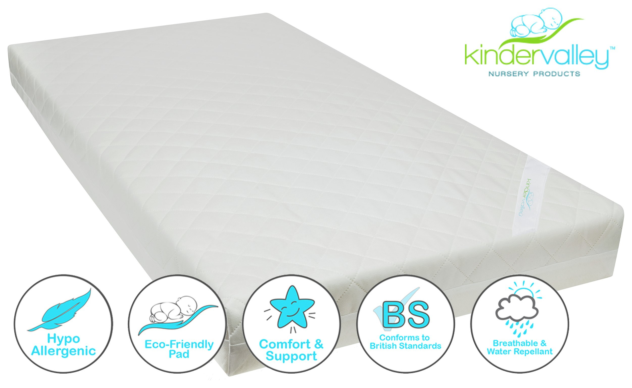 Kinder Valley Deluxe Spring Cot Mattress- 120cmx60cm.
