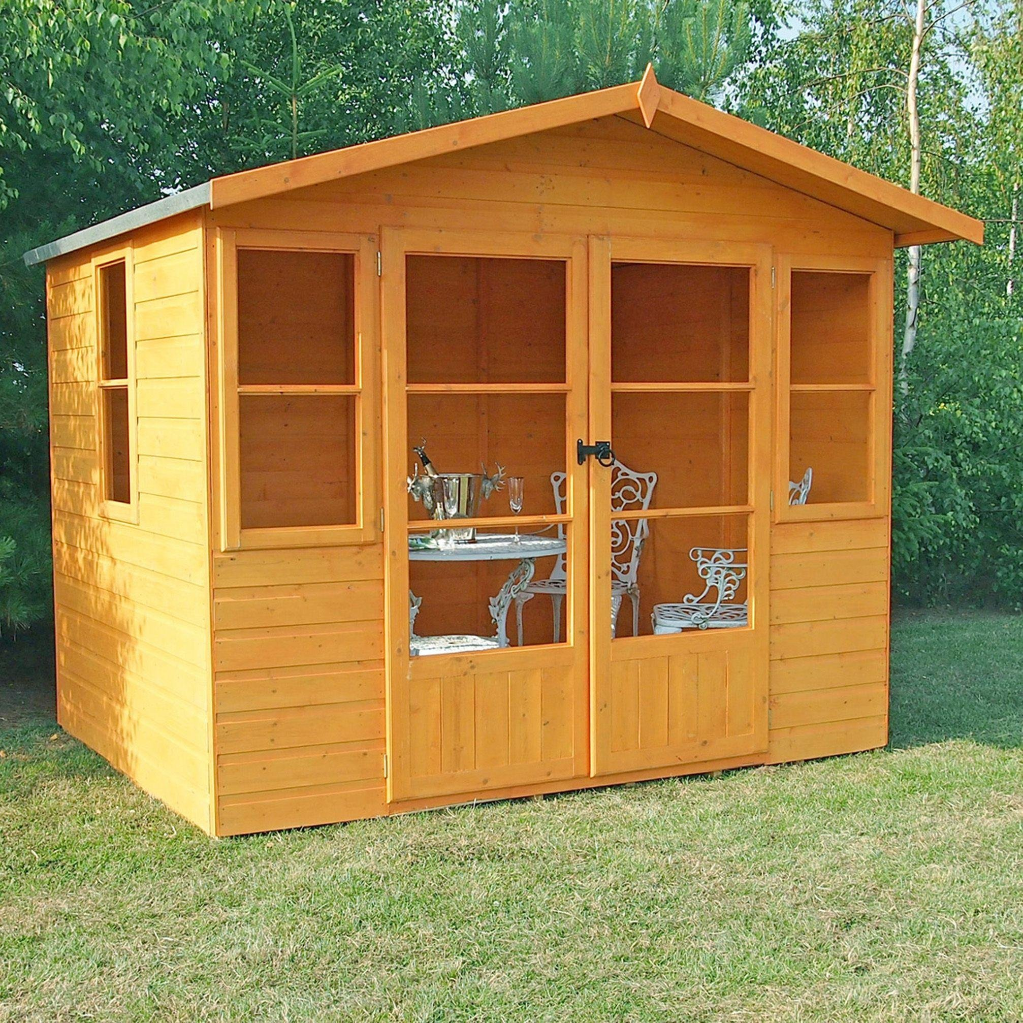 sale on homewood milton wooden summerhouse 8 x 8ft. Black Bedroom Furniture Sets. Home Design Ideas