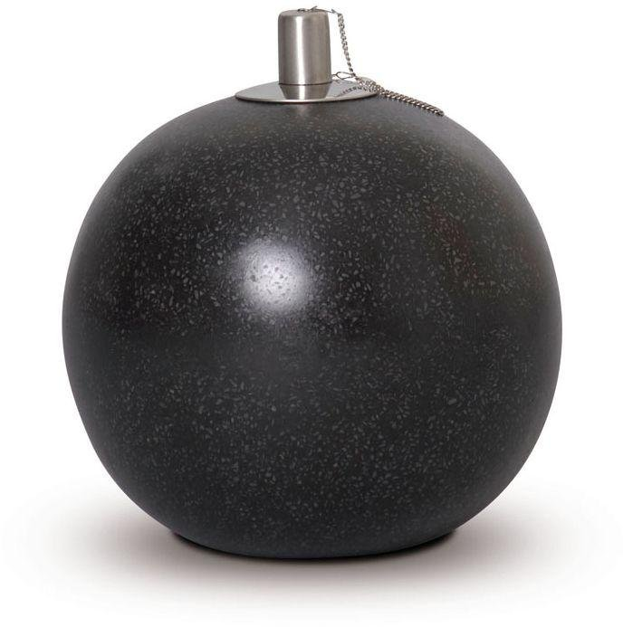Image of Cadix 20cm Black Oil Lamp Ball.