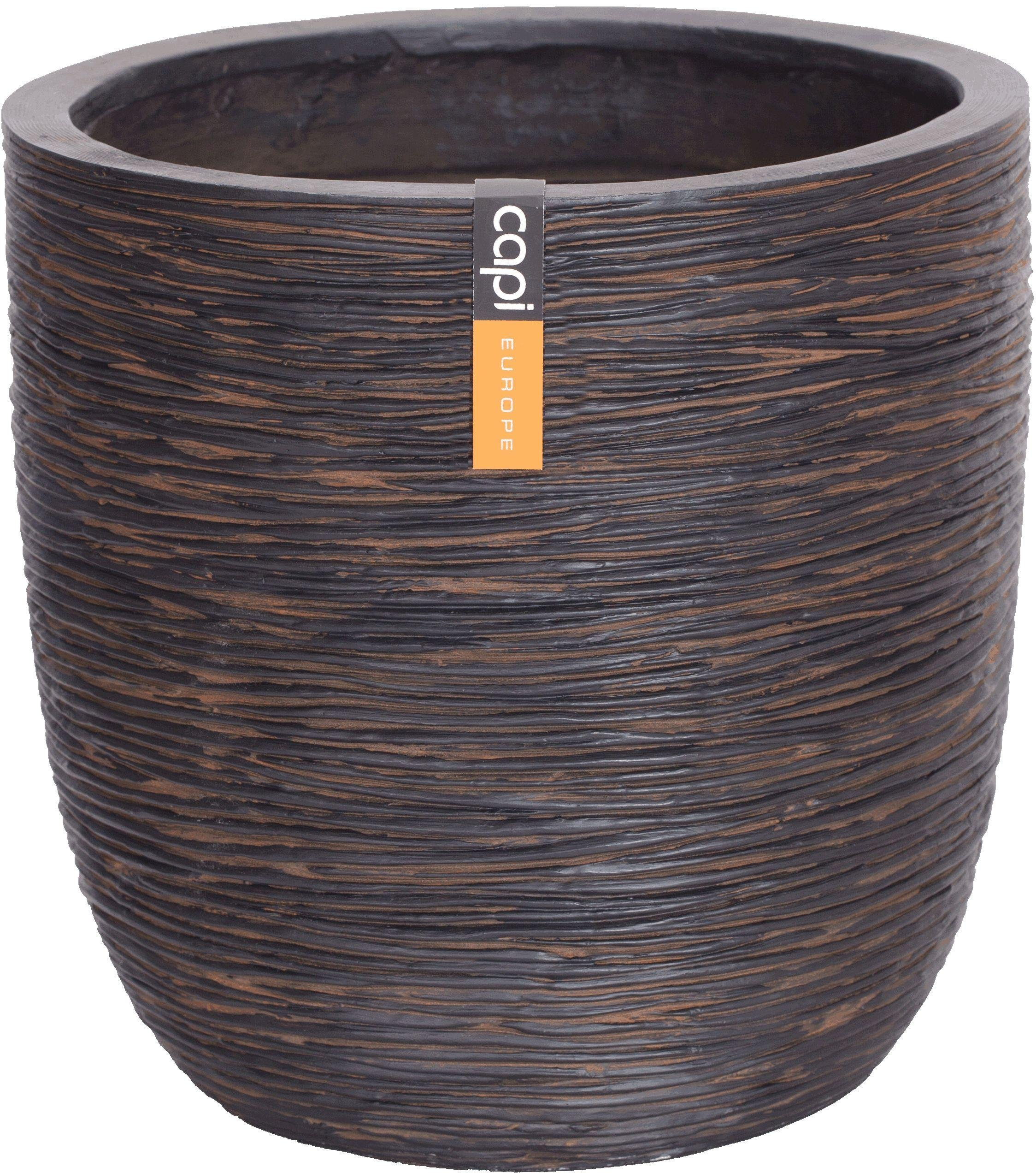 Capi Nature Brown Ribbed Planter Egg - 26 x 28cm. lowest price