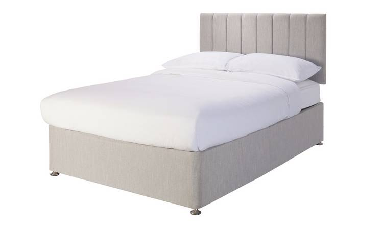 Argos Home Bircham Memory Kingsize Divan - Light Grey
