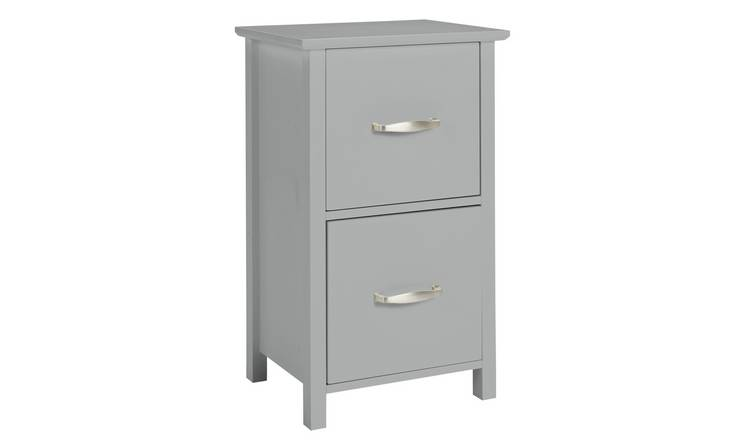 Argos Home Tongue & Groove 2 Drawer Unit - Grey