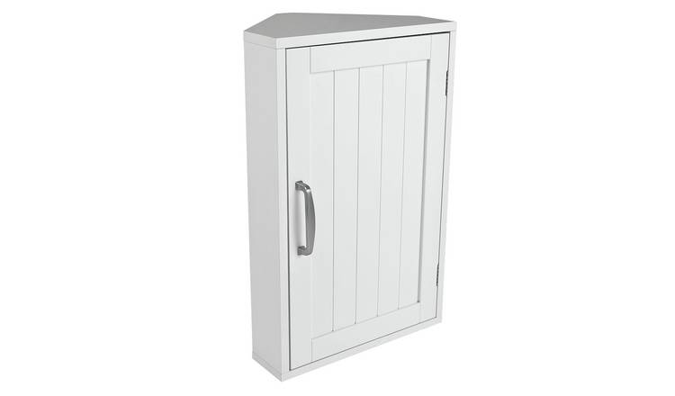 Argos Home Tongue & Groove Corner Cabinet - White