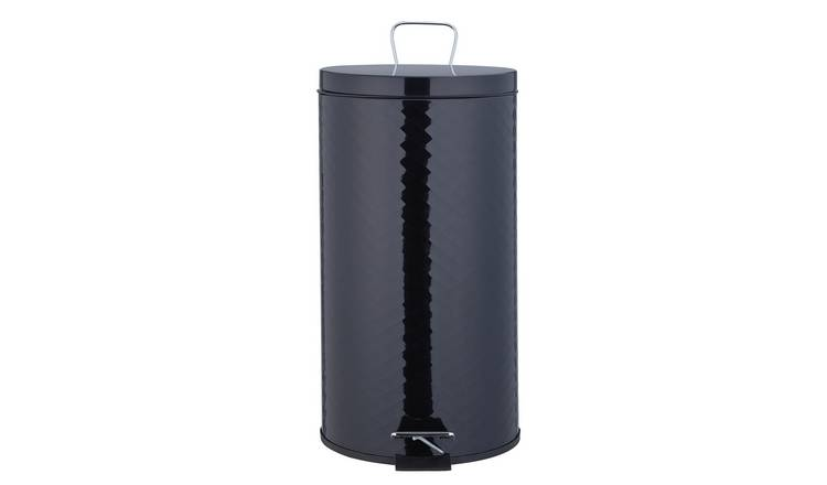 Argos Home 30 Litre Round Kitchen Pedal Bin - Gloss Black