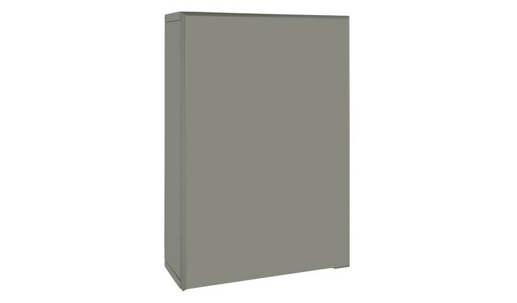 Argos Home Gloss Single Wall Cabinet - Grey