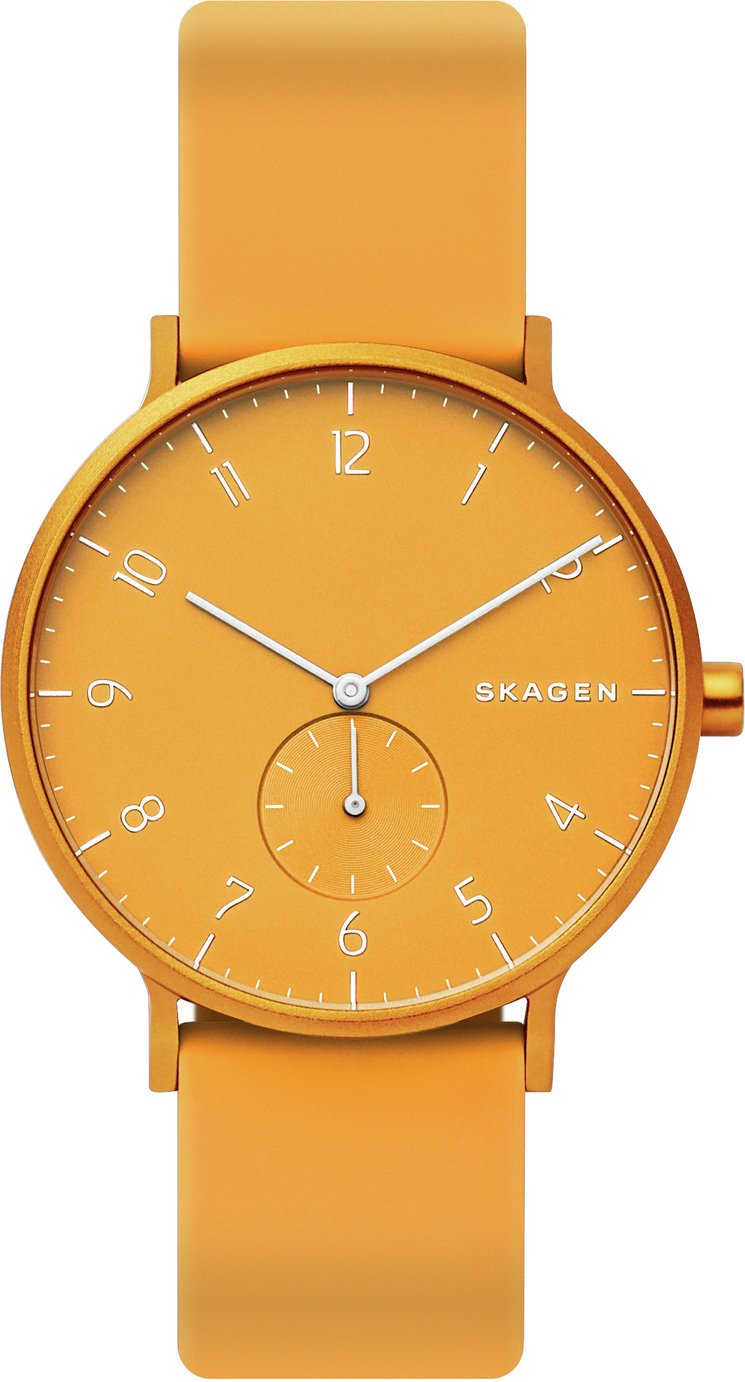 Skagen Kulor Yellow Silicone Strap Watch