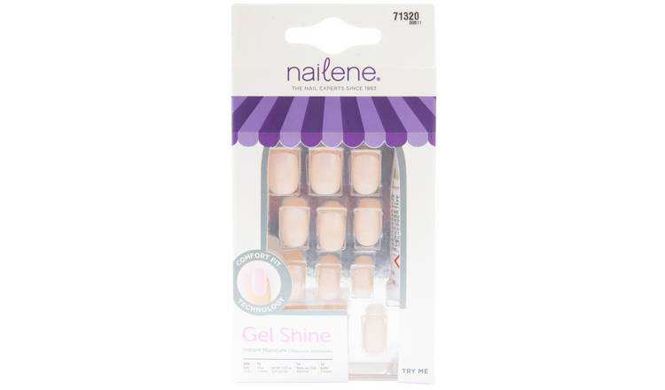 Nailene So Chic Gel Shine Short Nails - Natural 28