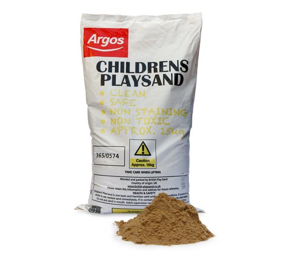 children 39 s play sand 15kg bag fun for use with sand pits. Black Bedroom Furniture Sets. Home Design Ideas