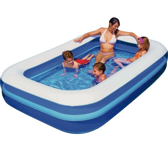Buy chad valley family swim centre rectangular 950 litre - How many litres in a swimming pool ...
