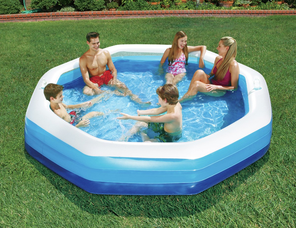 Summer Escapes 9ft Octagonal Family Paddling Pool - 1318L365/2132