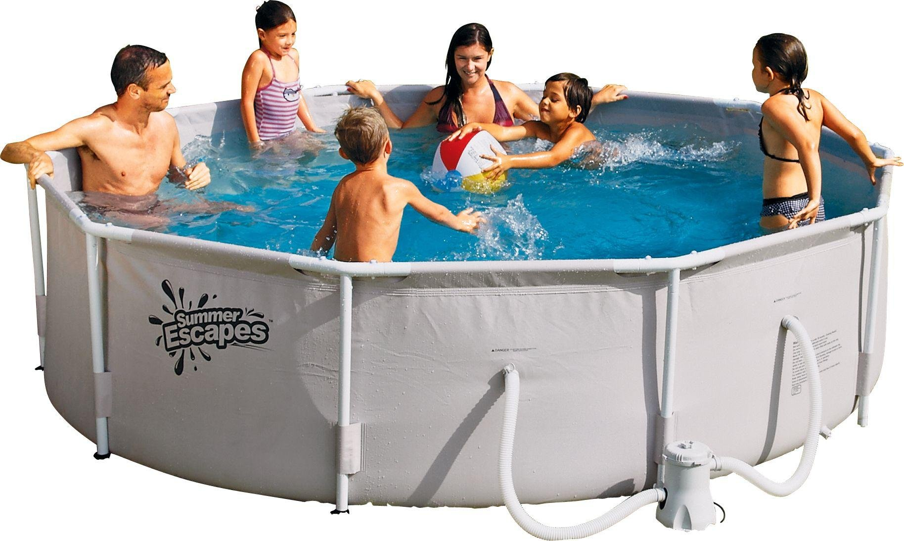 Buy Summer Waves White Pool 10ft 4 792 Litres Pools And