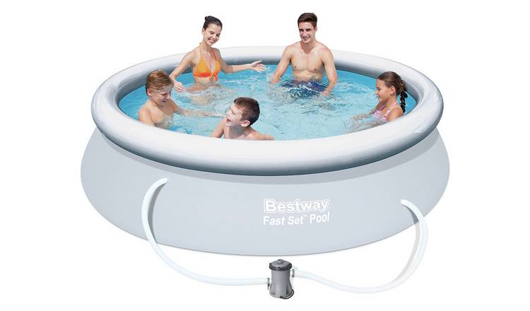 Buy Bestway Quick Up Pool Set and Cover - 10ft - 3638 Litres | Pools and  paddling pools | Argos